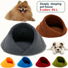 Pet Cat Bed Small Dog Puppy Kennel Sofa Polar Fleece Mat House Sleeping Bag Warm