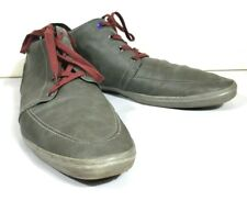 Aldo Men's Size 13 High Top Lace Up Fashion Sneakers Ankle Shoes Gray Burgundy