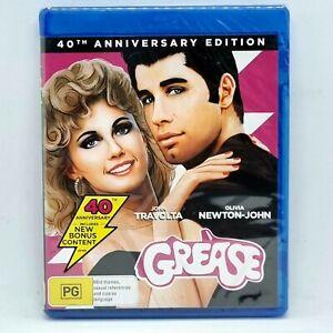 GREASE Blu-Ray 40th Anniversary Edition NEW SEALED Free 📮 Olivia Newton John❤