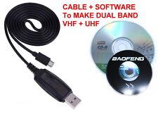 Baofeng BF-T1 USB PROGRAMMING CABLE + SOFTWARE MAKE IT DUAL BAND UHF+VHF +20ch