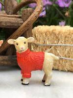 Miniature Dollhouse FAIRY GARDEN ~ Mini FARM Animal Figurine SHEEP in Sweater
