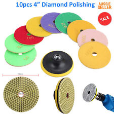 "10pcs 4"" Diamond Polishing Pad Grinding Disc For Granite Marble Concrete Stone"