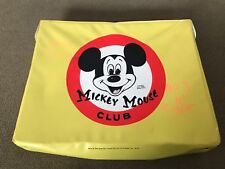 Vintage Mickey Mouse Club Vinyl Yellow Carrier Lunch Type Doll Suit Case (JL)