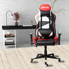 Merax Racing Gaming Style High Back PU Leather Race Car Seat Office Chair Red