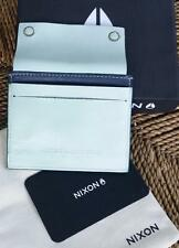NIXON Mens Leather Compact Coin Wallet Card Holder Dustbag and Gift Box sample