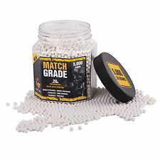 .20g Game Face Match Grade White Airsoft BBs (5000ct) 20GPW5J