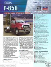 Truck Brochure - Ford - F-650 - Super Duty Straight Frame Tractor - 2006 (T1315)