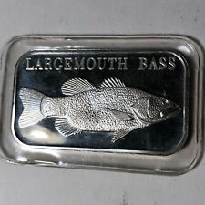 Largemouth Bass 1 Ounce .999 Silver Art Bar SEALED