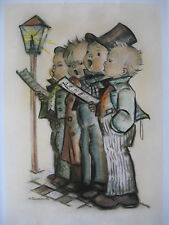Vtg M.I. Hummel Goebel Collector's Club 4 Boys Singing A Carol Poster Art Print