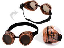 Steampunk Schweißerbrille Sonnenbrille Viktorianischer Stil rund Cyber-Brille