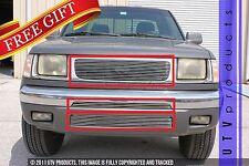 GTG Polished 3PC Overlay Billet Grille Kit fits 1998 - 2000 Nissan Frontier