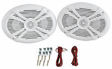 Pair Rockville RMSTS69W 6x9 1000w Waterproof Marine Boat Speakers 2-Way White