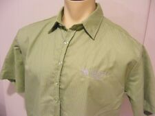 mens BACARDI MOJITO short sleeve shirt BUTTON UP Large very clean lime green