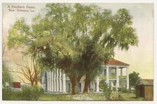 Vintage post card, A Southern Home. New Orleans, La. Grombach-Faisans Co.