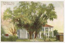 Vintage post card, A Southern Home. New Orleans, La. Grombach-Faisans Co.