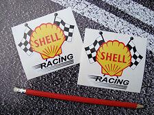 SHELL OIL Racing Stickers Classic Style 9cm Fuel Ferrari F1 Lemans Targa Florio
