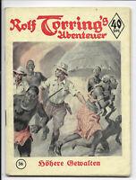 Rolf Torring´s Abenteuer Nr.36 von 1951 - Z1-2 ORIGINAL ROMANHEFT RARITÄT