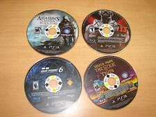 Lot of 4 PS3 - Playstation 3 Games - SOUTH PARK + ASSASSINS CREED +  WWE 13