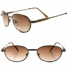 Old Stock Classic 80s Genuine Vintage Mens Womens Rectangle Brown Sunglasses