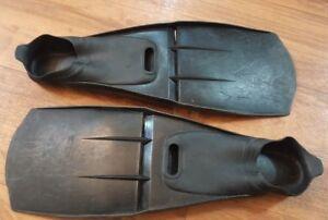 Full Foot Fins US Size 6 7 - EU 39-40 Scuba, Dive, Snorkel Black Flippers