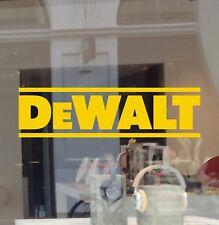 DeWalt Tools Decal Die Cut Vinyl Car Truck Window Tool Box Laptop Sponsor Model
