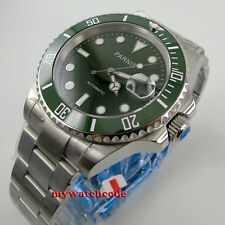 40mm Parnis green dial MIYOTA movement automatic sapphire glass Mens Watch P569