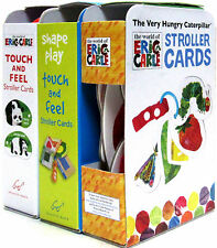 The Very Hungry Caterpillar,Touch and Feel, Shapes Stroller Cards Eric Carle 3pk
