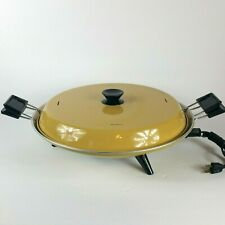 Mirro Mustard Yellow Vintage Electric Pizza Baker M-0368-35 Working 12 V 500 WT