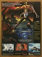 Septerra Core: Legacy of the Creator PC 1999 Vintage Poster Ad Art Print Rare