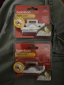 """FurBuster Bamboo Care Cat 2"""" Replacement Blades deShedding Tool New In Package"""