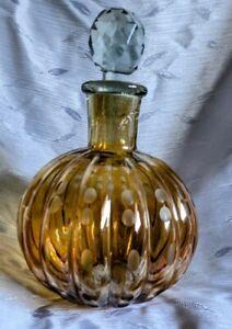 Vintage Crystal Lustre Dome Bottle