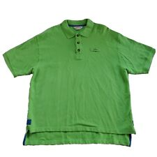 Orvis Rugby Polo Shirt Mens XL Green Spell Out Thick Short Sleeve