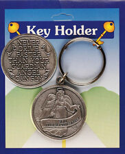 SON PLEASE DRIVE SAFELY GUARDIAN ANGEL PEWTER KEYRING - OTHER TYPES ARE LISTED