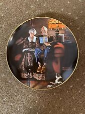 """New ListingNorman Rockwell's """"Evening's Ease"""" in Knowles china, 1983, collector's plate,"""