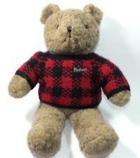 Teddy Bear Plush 1988 Woolrich Stuffed Animal Chrisha Playful Plush Sweater Toy