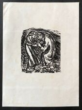 Ernst Barlach Ein braver Mann muß gehn und betteln Holzschnitt 1922