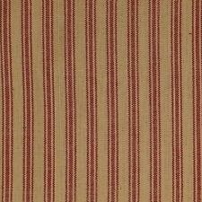 Homespun TICKING 586 100% Cotton Fabric Thread dyed Red Natural BY THE YARD