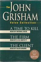 John Grisham Time To Kill The Firm Client 8 Cassette Audio Book Abridged