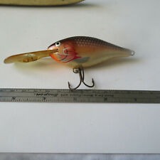 "FISHING LURE  RAPALA  4""  OVERALL  MINNOW  BLACK & ORANGE & PEARL"