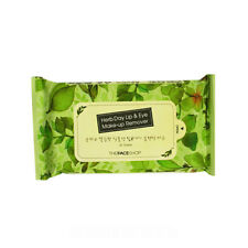 [The Face Shop] Herb Day Lip & Eye Make Up Remover Tissue - 1Pack (30pcs)