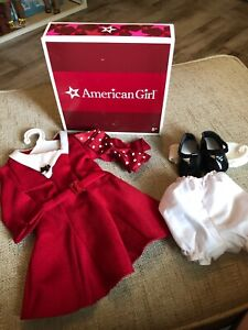 American Girl Doll Kit's Christmas Holiday Red Dress Outfit Complete with Box!