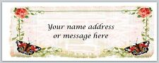 30 Personalized Return Address Labels Flower Butterfly Buy 3 get 1 free (bo 428)