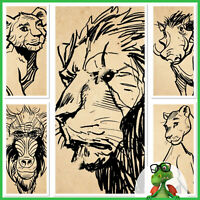 Topps Disney Collect! Lion King Ink Sketches Set of 5 no Award * GDL