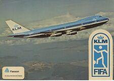Postcard 1294 - Aircraft/Aviation KLM Fifa Sticker Decal
