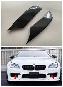 Carbon Fiber Eyebrows Eyelids Head lights Cover For BMW M6 F12 F13 2012-2019 18