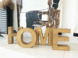 Deko-Artikel: HOME Pappbuchstaben in gold
