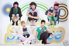 "SHINEE ""GROUP SQUATTING OVER BAND NAME"" ASIAN POSTER-Korean Boy Band,K-Pop Music"