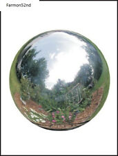 Garden Gazing Ball Silver Stainless Steel Globe Polished Steel 10 Inch.