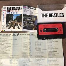 THE BEATLES Abbey Road JAPAN CASSETTE TAPE w/Logo Case ZR25-1012 UK Flag #12