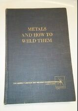 Metals And How To Weld Them Jefferson Arc Welding 1967 VTG